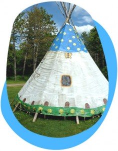 Eco tipi, or teepee/wigman, is a Native American tent